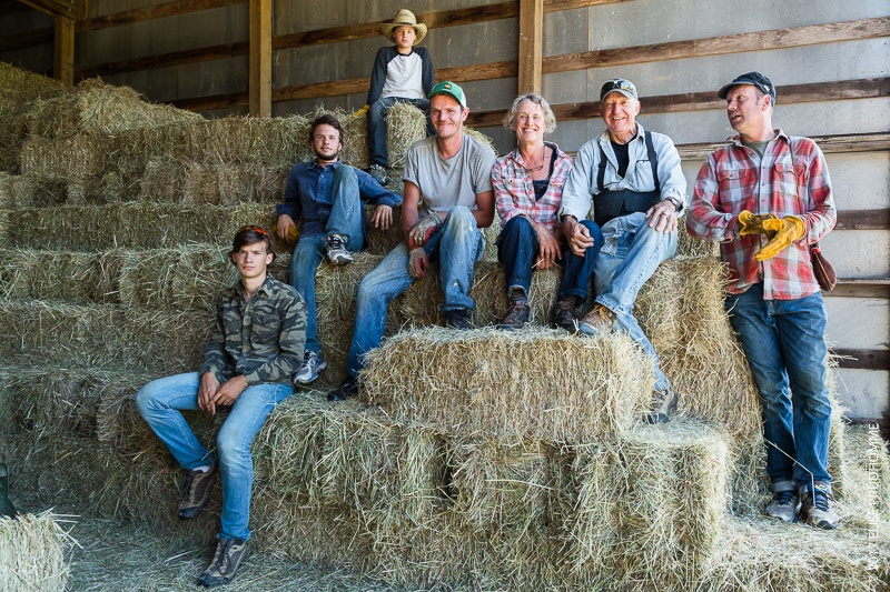 Haymaking Team of Three Feathers Estate & Vineyard