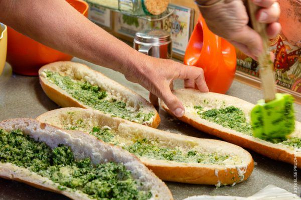 Recipe for making a Pan Bagnat sandwich.  The 'Pan Bagnat' is a traditional local sandwich NICE Alpes-Maritimes French Riviera Provence-Alpes-Côte d'Azur France.