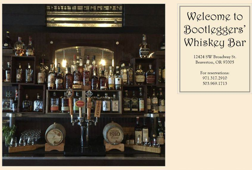 Bootleggers Whiskey Bar in Beaverton, Oregon is now featuring Three Feathers wines.