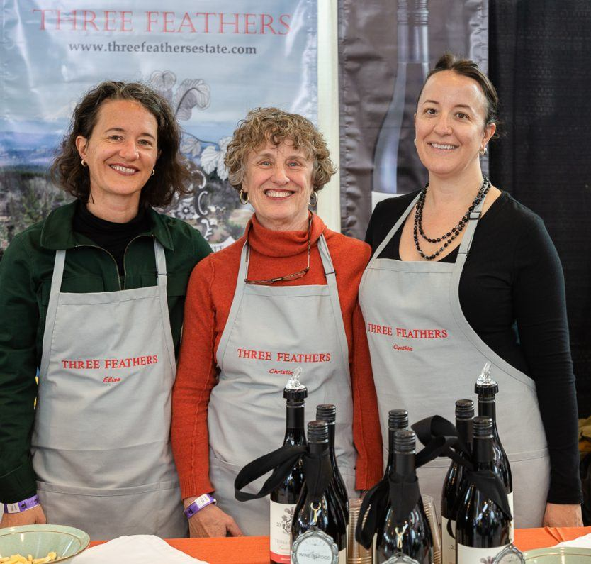 Elise (left), Christine (middle) and Cynthia (right) pose for a portrait during the McMinnville Wine & Food Classic SIP on March 8, 2019.