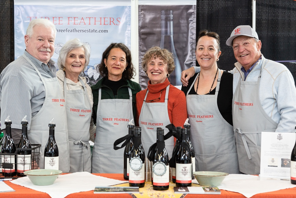 The Three Feathers team poses for a portrait during the McMinnville Wine & Food Classic SIP on March 8, 2019.