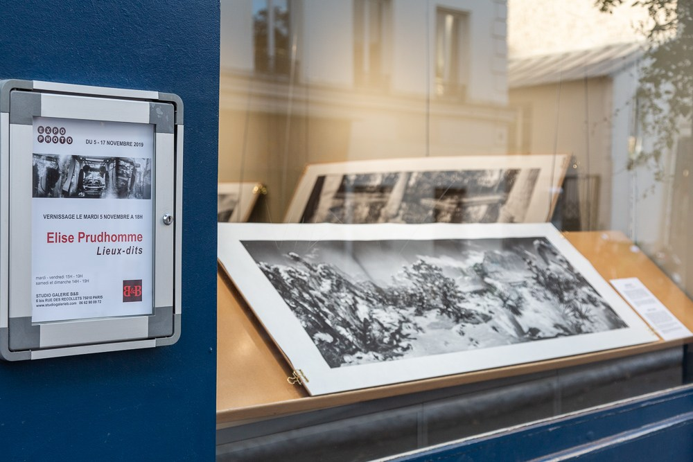 Elise Prudhomme exhibits Lieux-dits at Studio Galerie B&B from 5 - 17 November 2019.  Large format panoramic analog photos on Japanese mulberry paper.