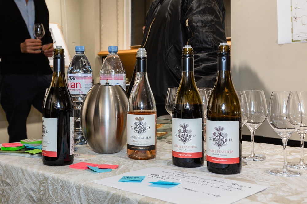 Three Feathers wine tasting workshop at Studio Galerie B&B in Paris, France on November 7, 2019.