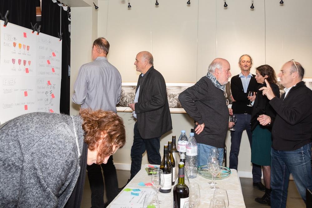 Three Feathers wine tasting workshop at Studio Galerie B&B in Paris, France on November 7, 2019.