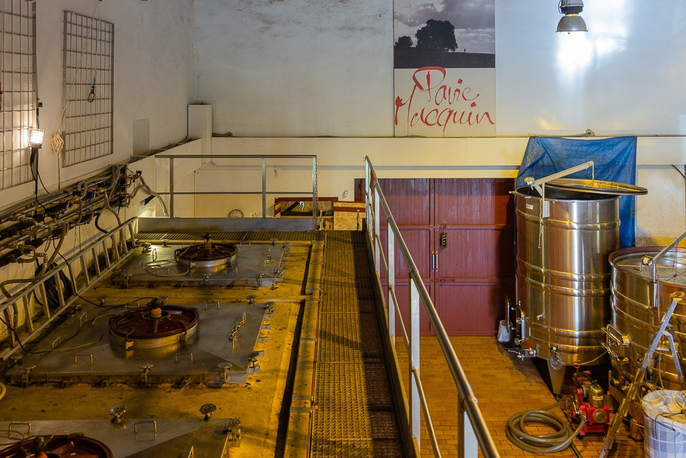 Concrete fermentation tanks for Merlot wine, Wine Estate Chateau