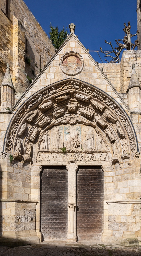 Doors and portico of the rock-carved sanctuary, Place du Marche,