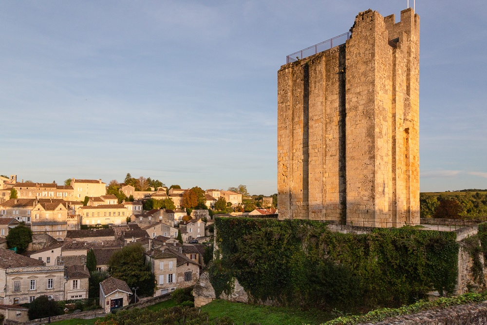 The town of Saint-Emilion seen from the King's Tower, Gironde, F