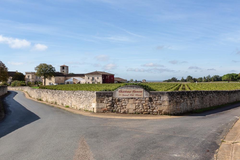 Vineyards at Chateau Canon 1er Grand Cru Classe, St Emilion in t