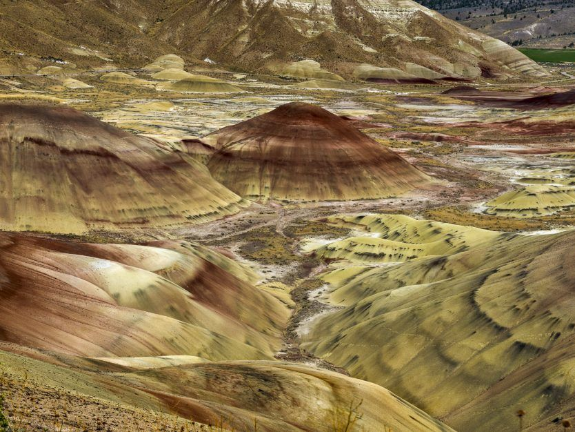 Color photograph taken by photographer Elise Prudhomme at the John Day Fossil Beds National Monument, Oregon, USA in 2014.